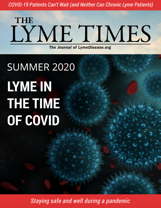 Cover of the Lyme Times Magazine Summer 2020 Lyme in the Time of COVID issue